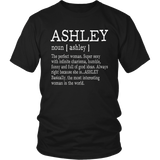 Adult Definition - First Name Ashley - Ladies T-Shirt Funny Quotes Hoodie