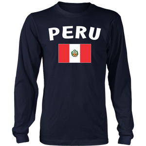 Peru T-shirt Peruvian National Flag Tee Soccer Men Women Kid