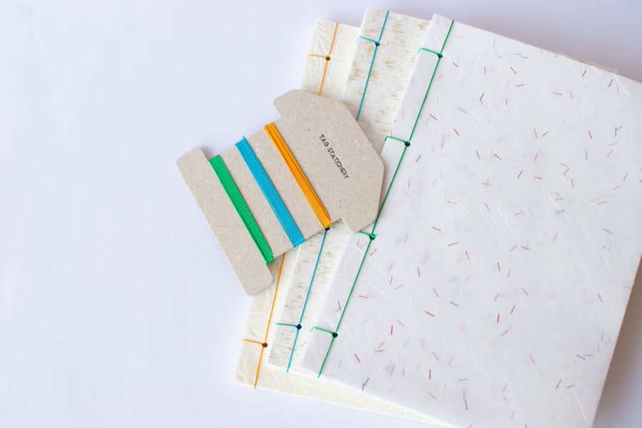 Japanese binding kit made from OK Fools paper