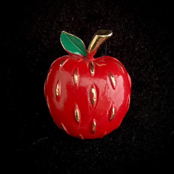 1970s Napier Apple Brooch - Retro Kandy Vintage