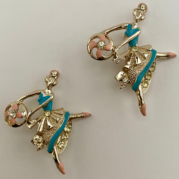 Late 50s/ Early 60s Ballerina Scatter Pins