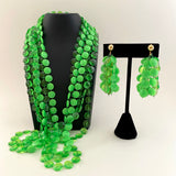 Late 60s/ Early 70s Bead Necklace & Earring Set