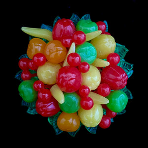 1950s Hong Kong Fruit Salad Brooch