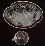1950s Federal Glass, Homestead Snack Set