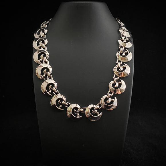 1960s Trifari Silver Choker Necklace