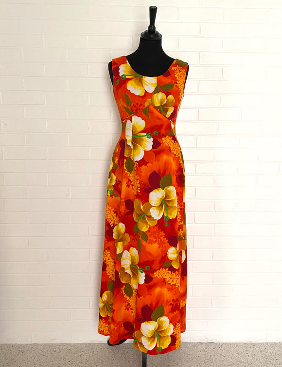 1960s Royal Hawaiian, Made & Styled in Hawaii Maxi Dress