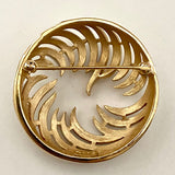 Late 50s/ Early 60s Trifari Round Abstract Brooch