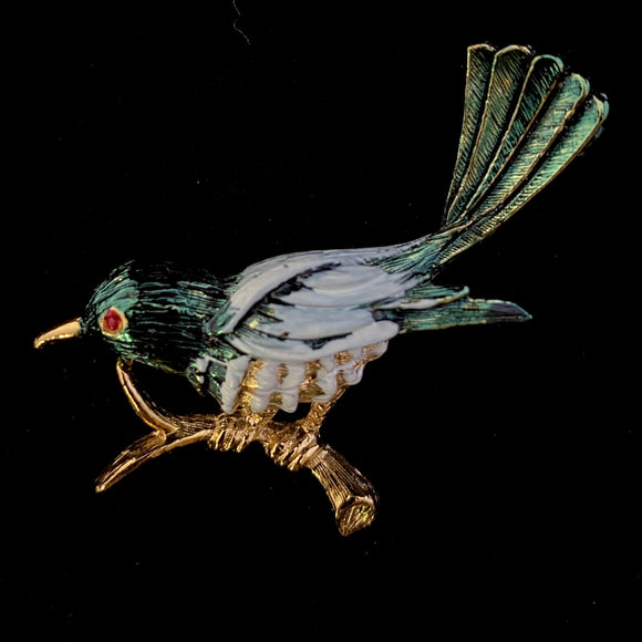 1980s Gerry's Bird Brooch In Original Box - Retro Kandy Vintage