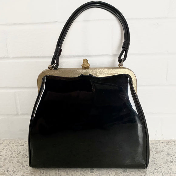 Late 40s/ Early 50s Verdi Patent Leather Handbag