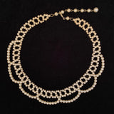 Late 50s/ Early 60s Faux Pearl Collar Necklace
