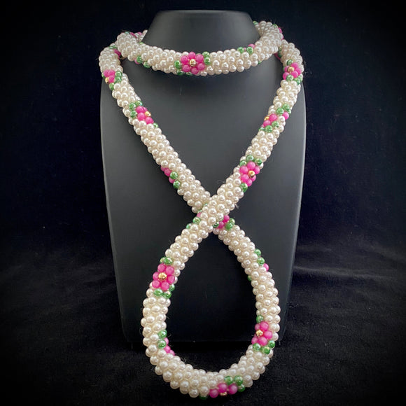 1970s Beaded Rope Necklace - Retro Kandy Vintage