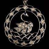 1974 Sarah Coventry Swan Lake Necklace - Retro Kandy Vintage