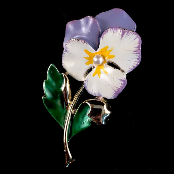 1970s Gerry's Pansy Brooch