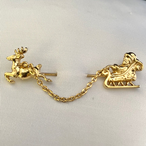 1983 Avon Sleigh Chantelaine Stick Pin - Retro Kandy Vintage