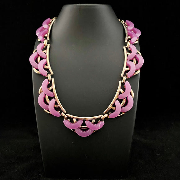 Late 50s/ Early 60s Purple Lucite Necklace