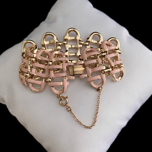 Late 50s/ Early 60s Coro Pink and Gold Bracelet - Retro Kandy Vintage