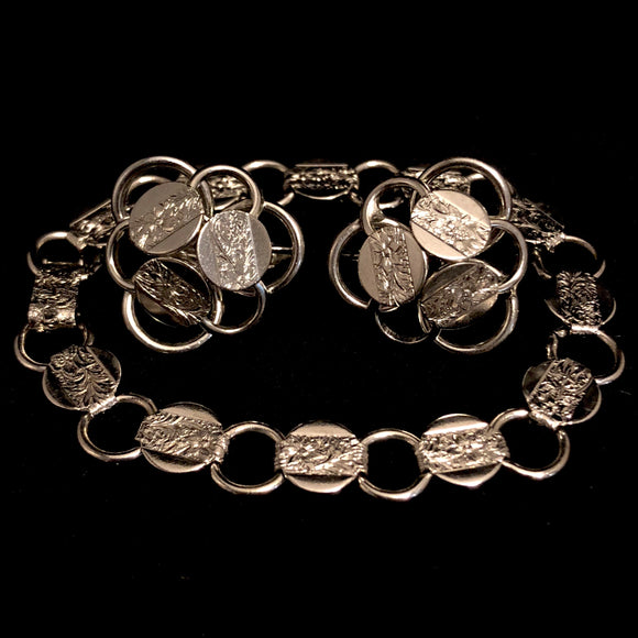 1959 Sarah Coventry Young & Gay Silver Bracelet & Earrings - Retro Kandy Vintage