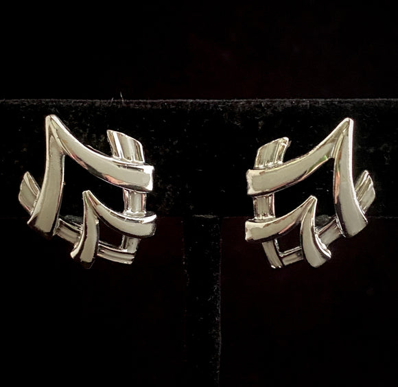 1960s Coro Abstract Earrings - Retro Kandy Vintage