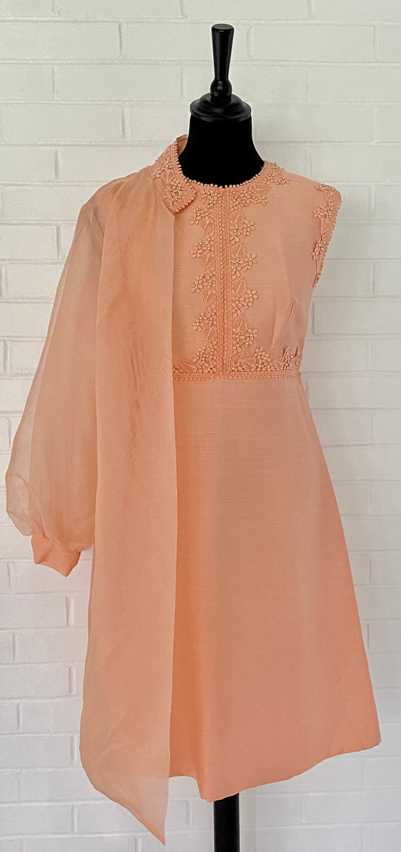 1960s Sylvia Ann Dress & Sheer Jacket