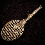 1970s Gerry's Tennis Racket Brooch - Retro Kandy Vintage