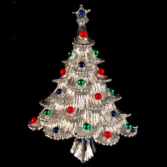 1960s Gerry's Christmas Tree Brooch - Retro Kandy Vintage