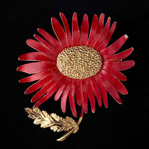 1950s Marvella Flower Brooch