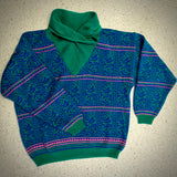 1980s Ivy Funnel Neck Sweater