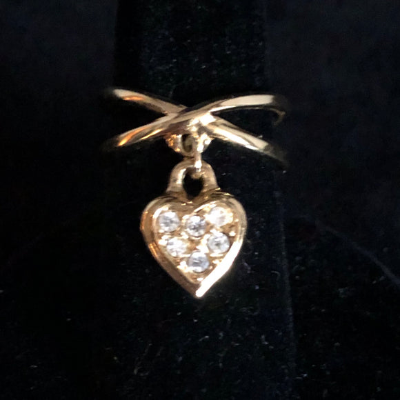 1993 Avon Dangling Heart Ring