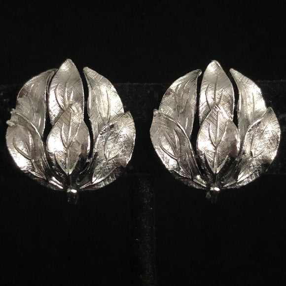 Late 50s/ Early 60s Linser Leaf Earrings