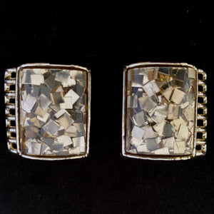 1950s PAM Lucite Confetti Earrings - Retro Kandy Vintage
