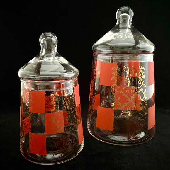 1960s Glass Canisters, Set Of 2