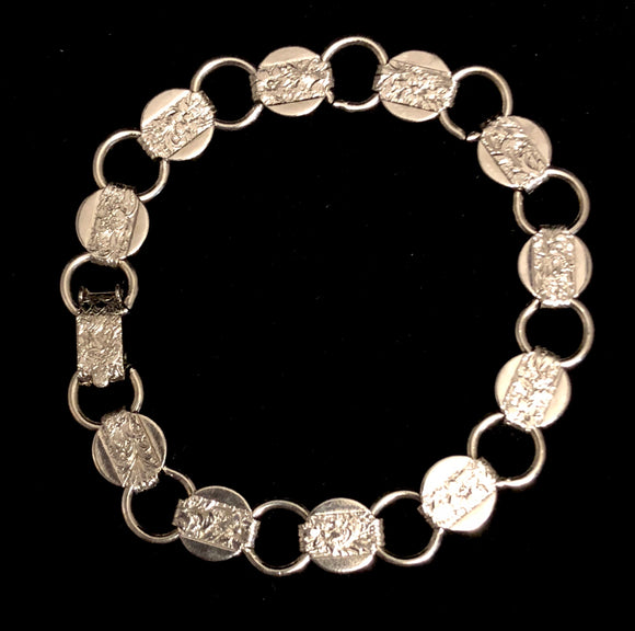 1959 Sarah Coventry Young & Gay Silver Bracelet - Retro Kandy Vintage