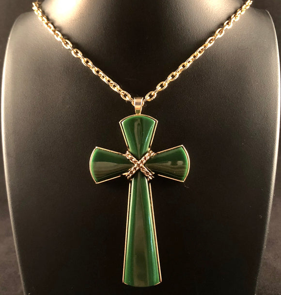 1976 Sarah Coventry Juliet Cross Necklace
