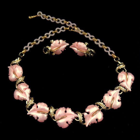 1960s Star Pink Thermoset Demi Parure