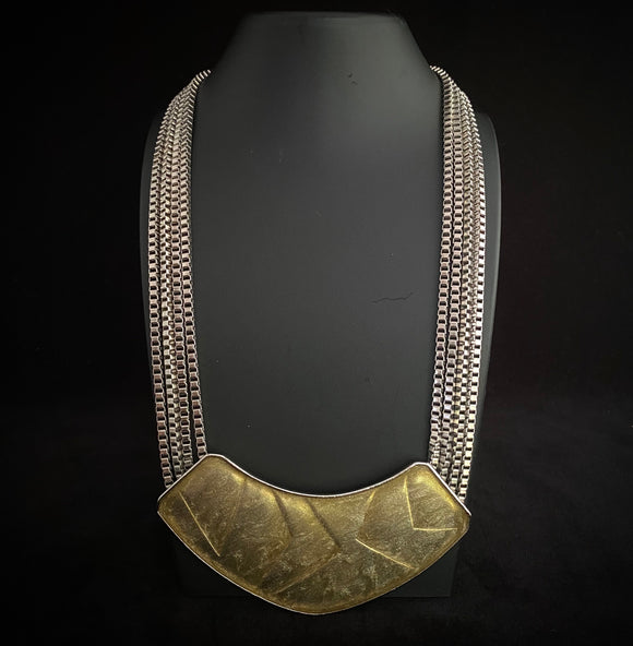 Late 1970s Kunio Matsumoto for Trifari Modernistic Necklace