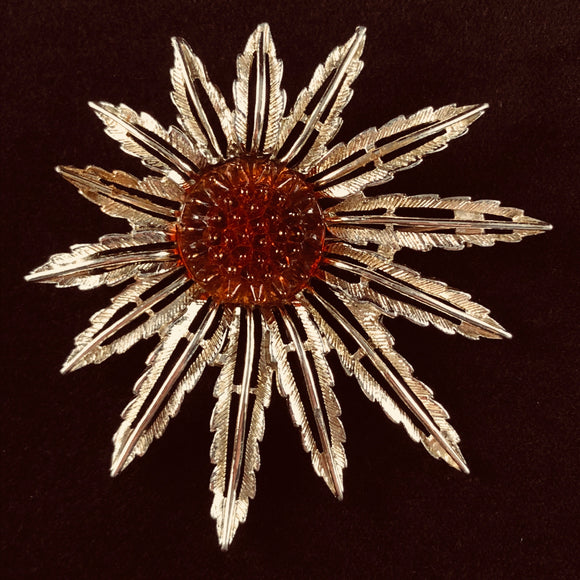 1961 Sarah Coventry Star Burst Brooch - Retro Kandy Vintage