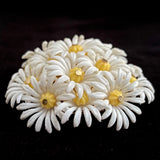 Late 60s/ Early 70s Hong Kong Plastic Daisy Brooch - Retro Kandy Vintage