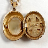 Late 60s/ Early 70s Luzier Solid Perfume Locket Necklace