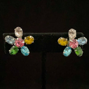 Late 50s/ Early 60s Coro Rhinestone Earrings