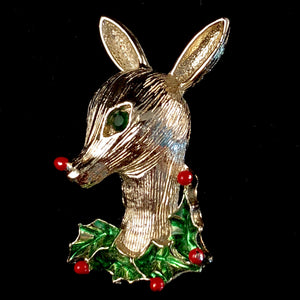 1960s Gerry's Reindeer Brooch
