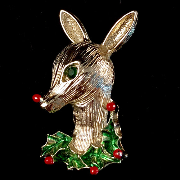 1960s Gerry's Reindeer Brooch - Retro Kandy Vintage