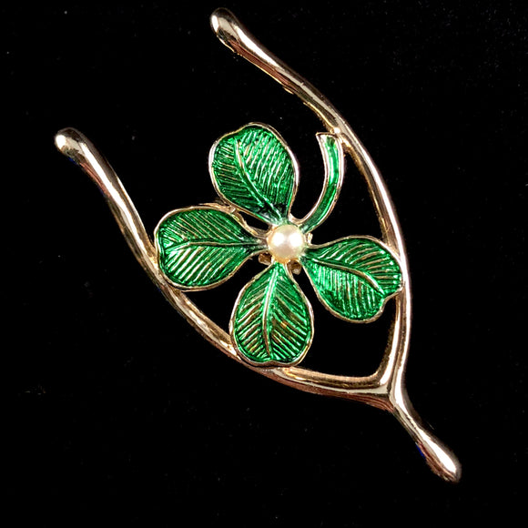 Late 70s/ Early 80s Gerry's Lucky Wishbone Brooch