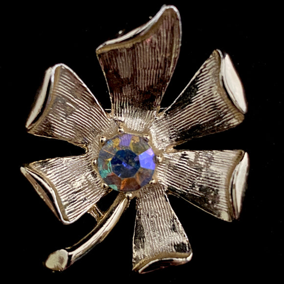1960s Gerry's Rhinestone Flower Brooch - Retro Kandy Vintage