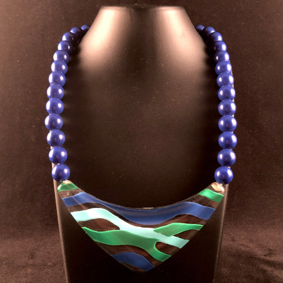 1987 Avon Fashion Waves Necklace - Retro Kandy Vintage