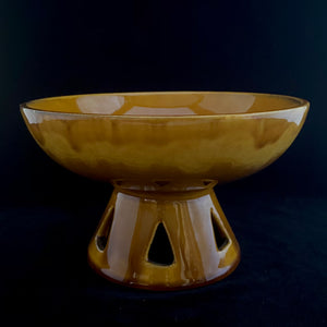 1970s Haeger Pottery Compote Bowl