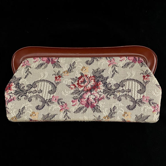 1970s Tapestry Clutch With Leather Lining