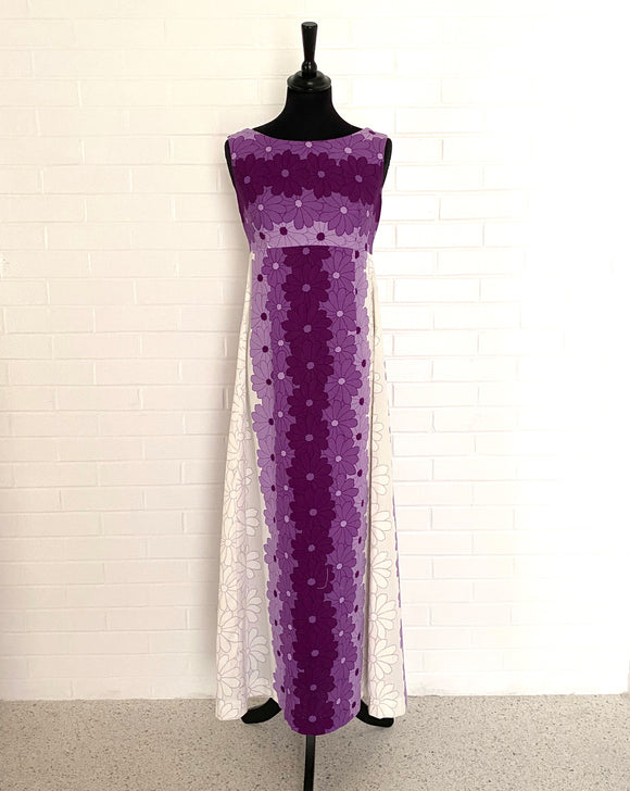 Late 1960s Ui-Maikai Hawaiian Maxi Dress