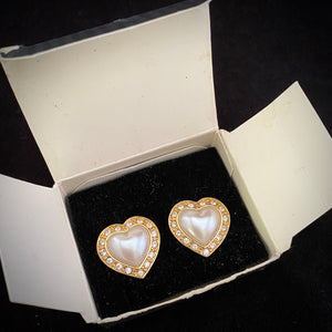 1995 Avon Heart of My Heart Earrings - Retro Kandy Vintage