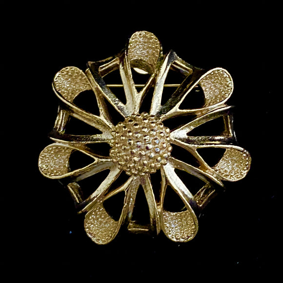 1960s Gerry's Flower Brooch