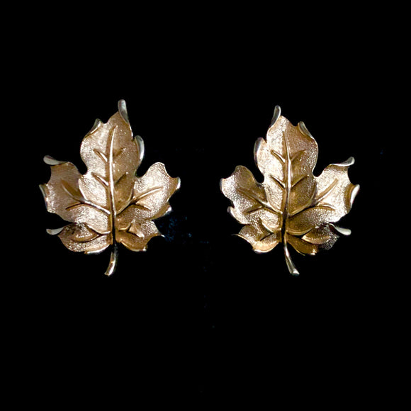 1960s Trifari Leaf Earrings